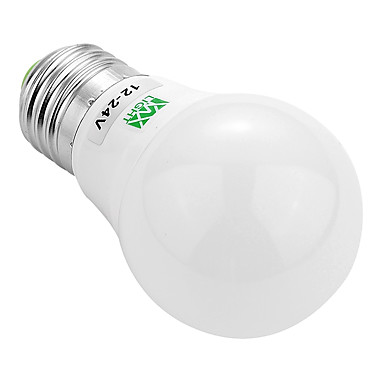 YWXLIGHT® 1pc 3W 200-300lm E26 / E27 LED-globepærer 6 LED perler SMD 5730 Dekorativ Varm hvit Kjølig hvit 12V 12-24V