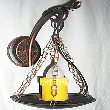 Rustikk / Hytte Vegglamper Metall Vegglampe 110-120V / 220-240V