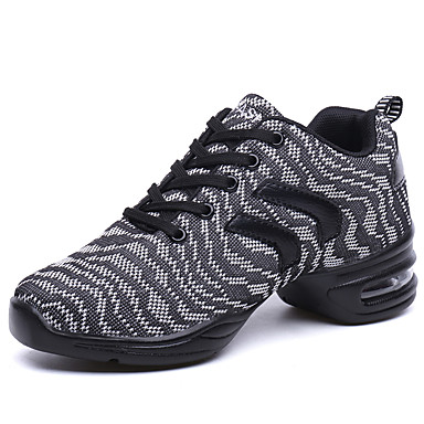 Mujer Zapatos de Baile Latino / Zapatos de Jazz / Zapatillas de Baile Tejido Zapatilla Fruncido Tacón Cuadrado No Personalizables Zapatos