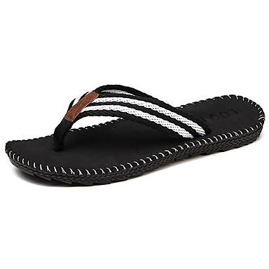 Homens sapatos Couro / Microfibra Verão Solados com Luzes Chinelos e flip-flops Cinzento / Vermelho / Khaki