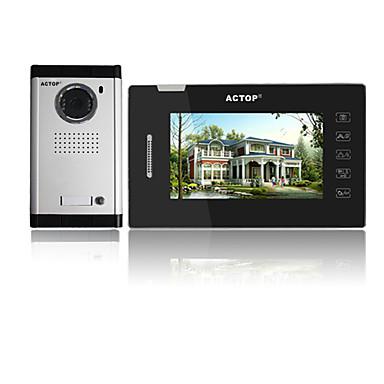 ACTOP VDP-319+CAM-211 سلكي صورت 7 بوصة حر اليدين واحد إلى واحد Doorphone الفيديو