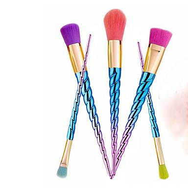 5pçs Pincéis de maquiagem Profissional Pincel para Blush / Pincel para Sombra / Pincel para Lábios Pêlo Sintético Profissional Plástico Pincel Pequeno
