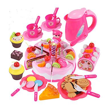Conjuntos Toy Cozinha Comida de Brinquedo Brinquedos de Faz de Conta Cortadores de Bolos e Bolachas Bolo PVC Para Meninos Crianças Dom