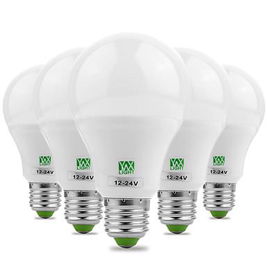 billige Elpærer-ywxlight® energibesparende e27 / e26 5730smd 7watts 14led varm hvit kul hvit super høy lysstyrke LED-lampe 12v 12-24v