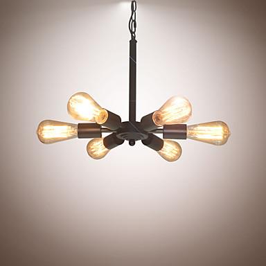 6-luz Lustres Luz Ambiente - Designers, 110-120V / 220-240V Lâmpada Não Incluída / 5-10㎡ / E26 / E27