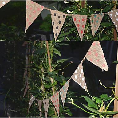 Faixas e Bandeirolas Juta / Mistura de Material Decorações do casamento Natal / Casamento / Halloween Tema Clássico / Tema vintage / Tema rústico Todas as Estações