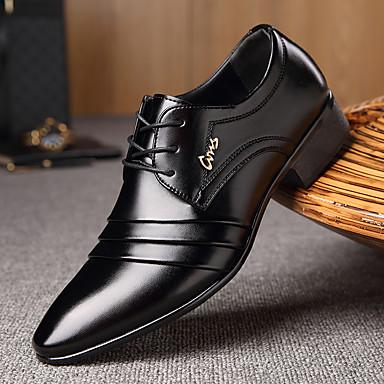 abordables Meilleures Ventes-Homme Chaussures Formal Microfibre Printemps / Automne Business Oxfords Marche Noir / Lacet / Combinaison / Chaussures de confort / EU40