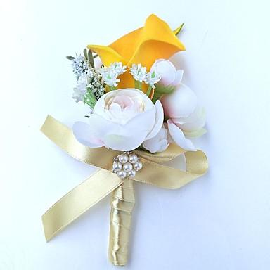 Bouquets de Noiva Alfinetes de Lapela / Decoração de Casamento Original Ocasião Especial / Festa / Noite Cetim 9.84
