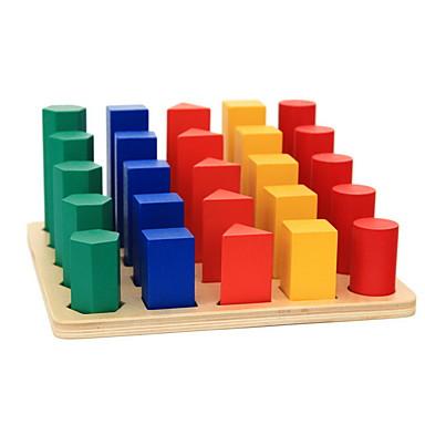hesapli Oyuncaklar ve Oyunlar-Montessori Eğitim Araçları Legolar Eğitici Oyuncak Silindirik Eğitim Klasik Genç Erkek Oyuncaklar Hediye