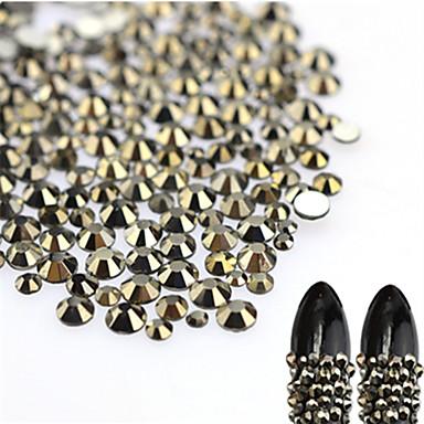 About 500pcs/bag Jóias de Unhas Strass Luxo / Design Moderno / Espumante arte de unha Manicure e pedicure Festa / Noite / Festa de Noite / Férias Elegante & Luxuoso / Brilho & Glitter / Jóias de unha