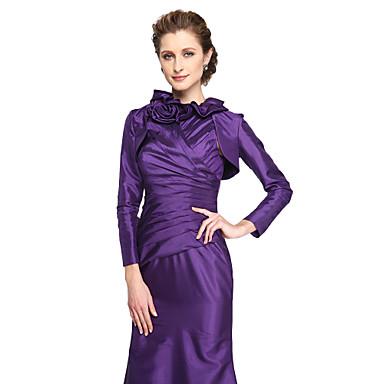 태피터 결혼식 파티/이브닝 여성 숄 볼레로