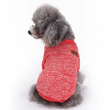 قط كلب المعاطف T-skjorte ملابس الكلاب سادة أحمر أخضر أزرق زهري أزرق فاتح القطبية ابتزاز كوستيوم للحيوانات الأليفة للرجال للمرأة جميل موضة