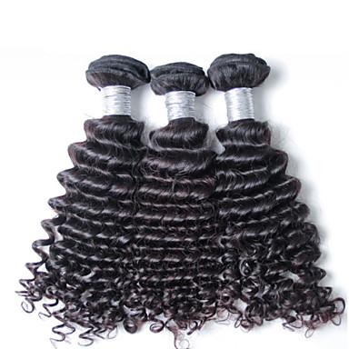 3 db / csomó szűz perui mély hullám haj, szövés nagykereskedelmi szűz perui haj