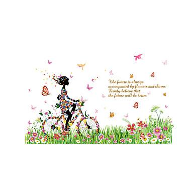 Autocolantes de Parede Decorativos - Adesivos de parede de pessoas Pessoas / Floral / Desenho Animado Sala de Estar / Quarto / Banheiro