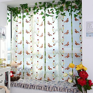 Único Plissado Um Painel Tratamento janela Designer Europeu Neoclassicismo Sala de Estar Poliéster Material Sheer Curtains Shades