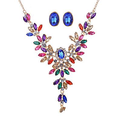 Mulheres Cristal Conjunto de jóias - Cristal, Strass Vintage, Fashion, Euramerican Incluir Arco-íris Para Casamento / Festa / Ocasião Especial / Colares