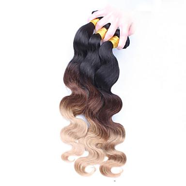 İnce Dalgalı Avrasya Saçı Vücut Dalgası İnsan saç örgüleri 3 Parça 0.3