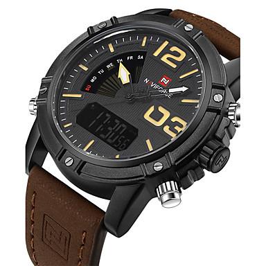 bf8253e4cdbaa رخيصةأون ساعات جيش-NAVIFORCE رجالي ساعة رياضية ساعة عسكرية ساعة المعصم رقمي  كوارتز ياباني جلد