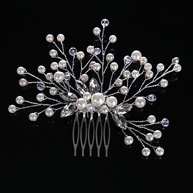 40c753e7e99 Křišťál   Napodobenina perel   Štras Vlasy Hřebeny s 1 Svatební   Zvláštní  příležitosti   Ležérní Přílba