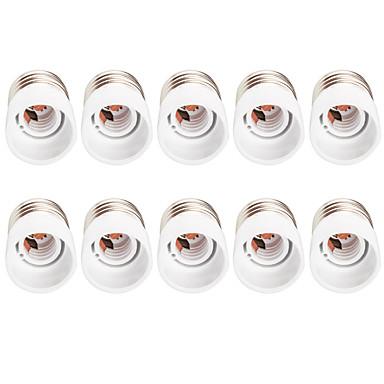 10pçs E27 para E14 Convertible base da lâmpada Tomada de luz