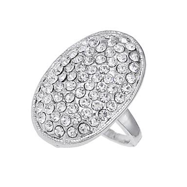 billige Motering-Herre Logo Band Ring Diamant Legering damer Unikt design Vintage Euro-Amerikansk Motering Smykker Sølv Til Fest Spesiell Leilighet 6 / 7 / 8 / 9 / 10