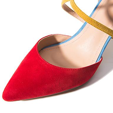 Soirée club amp; Chaussures Soirée Bout Boucle Habillé 05686204 Eté Sandales Chaussures Printemps Talon Evénement Laine de pointu Evénement amp; Aiguille Rouge Femme synthétique qAwdXHgXf