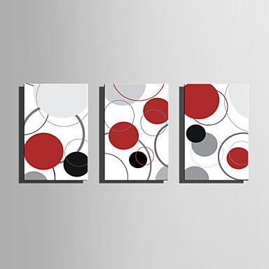 Imprimeu pânză întins Abstract Trei Panouri Orizontal Imprimeu Decor de perete Pagina de decorare