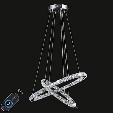 Circular Luzes Pingente Luz Ambiente - Cristal, Regulável, LED, 110-120V / 220-240V Fonte de luz LED incluída / 10-15㎡ / Led Integrado