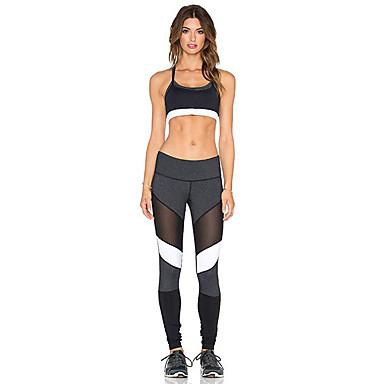 Mulheres 1 Pça. Leggings de Corrida Esportes Sólido Meia-calça Ioga, Fitness, Ginásio Roupas Esportivas Respirável, Macio, Elástico Com Stretch