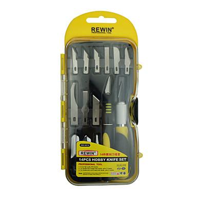 rewin ferramenta 14PCS conjunto de faca passatempo