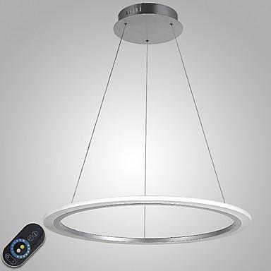 Circulaire Lampe suspendue Lumière d'ambiance - Intensité Réglable, LED, Dimmable avec télécommande, 110-120V / 220-240V Source lumineuse