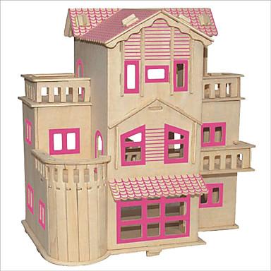 voordelige 3D-puzzels-Bouwblokken / 3D-puzzels / Legpuzzel Beroemd gebouw / Chinese architectuur / Huis DHZ 1pcs Kinderen Unisex Geschenk