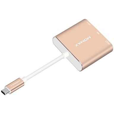 USB 3.1 tyyppi C Adapteri, USB 3.1 tyyppi C to HDMI 2.0 USB 3.0 USB 3.1 tyyppi C Adapteri Uros - Naaras 1080P 0,18 (0.6Ft)
