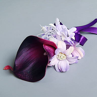 زهور الزفاف باقات ورود العروة أخرى أزهار اصطناعية زفاف حفل / مساء مادة دانتيل ستان 0-20cm