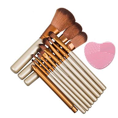 12pcs Pincéis de maquiagem Profissional Pincel para Blush / Pincel para Sombra / Pincel para Lábios Pêlo Sintético Portátil / Viagem /
