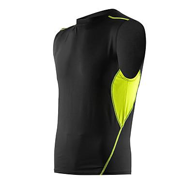 Homens Camiseta de Corrida Sem Manga Secagem Rápida Respirável Macio Confortável Compressão Malha Íntima Blusas para Exercício e