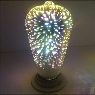 cheap LED Globe Bulbs-1pc ST64 Fireworks Decorative 3D E27 Edison Bulb Party Warm White Decorative Led Globe Lights AC85-265V