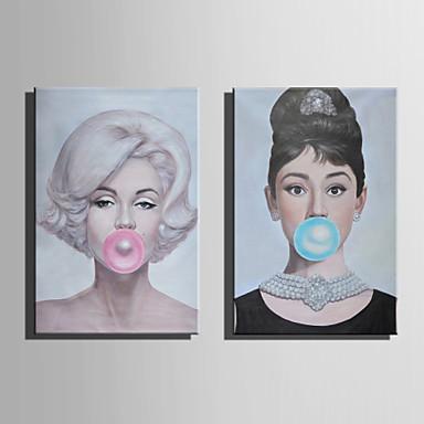 Pessoas Modern Estilo Europeu, 1 Painel Tela de pintura Vertical Estampado Decoração de Parede Decoração para casa