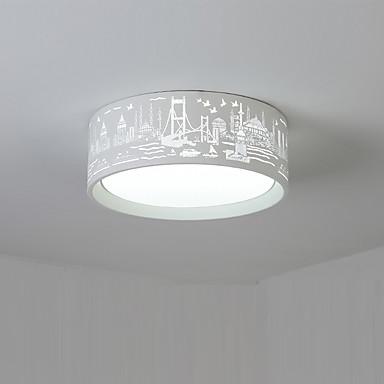 Montagem do Fluxo Luz Ambiente - LED, Moderno / Contemporâneo, 110-120V 220-240V, Branco Quente Branco, Lâmpada Incluída
