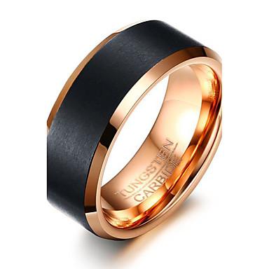 voordelige Herensieraden-Heren Ring Diverse Kleuren Wolfraamstaal Rond Cirkelvorm Geometrische vorm Gepersonaliseerde Standaard Eenvoudige Stijl Feest Vuosipäivä Sieraden