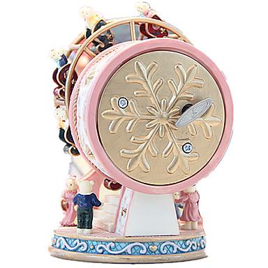 Caixa de música Forma Cilindrica Roda gigante Presente Rotativo Crianças Adulto Infantil Dom Para Meninas Unisexo