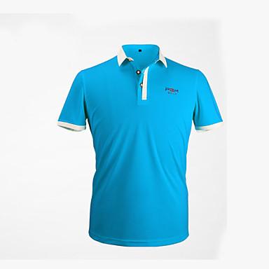 Unisexo Manga Curta Golfe Blusas Respirável / Redutor de Suor / Confortável Golfe / Esportes Relaxantes Roupa Esportiva / Ao ar livre