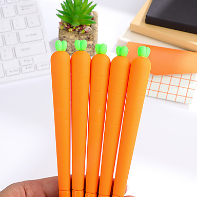 Pen gel Caneta Canetas Gel Caneta, Plástico Preto cores de tinta For material escolar Material de escritório Pacote de  12 pcs