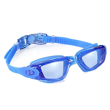 نظارات السباحة مقاوم للماء / مكافح الضباب / حجم قابل للتعديل جل السيليكا للعد التنازلي أسود / أزرق رمادي فاتح / أزرق فاتح
