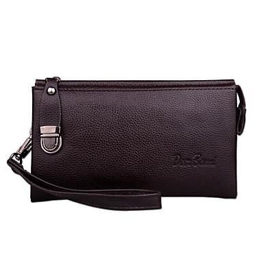 Herren Taschen PU Polyester Brieftasche für Normal Ganzjährig Schwarz Kaffee