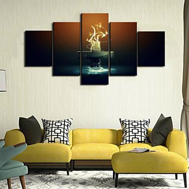 아트 프린트 정물 우아한,5판넬 수평 프린트 벽 장식 For 홈 장식