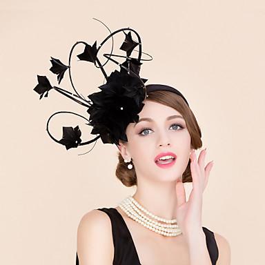 voordelige Hoeden-Strass / Veer Kentucky Derby Hat / fascinators / hatut met 1 Bruiloft / Speciale gelegenheden  / Causaal Helm