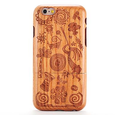 غطاء من أجل iPhone 6s / ايفون 6 / Apple مطرز / نموذج غطاء خلفي خشب / كارتون قاسي خشبي إلى ايفون 6s / iPhone 6