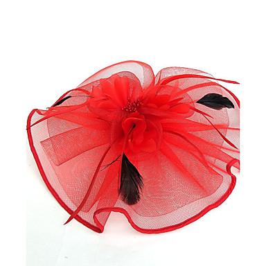 billige Hodeplagg til fest-Tyll / Fjær / Nett Kentucky Derby Hat / fascinators / Hatter med 1 Bryllup / Spesiell Leilighet Hodeplagg