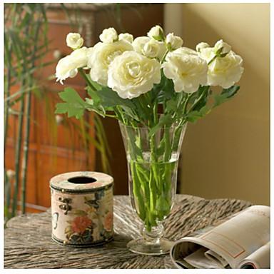Umělé květiny 10 Větev evropský styl Pivoňky Květina na stůl